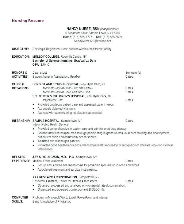 Ob Nurse Resume School Nurse Resume Objective Examples Nursing