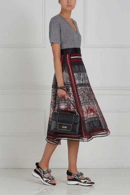"""Юбка с принтом """"Русский орнамент"""" Gourji - Юбка в этническом стиле от Gourji в интернет-магазине модной дизайнерской и брендовой одежды"""