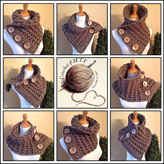 THE COWTOWN COWL Versatile Scarf Neck Warmer 3 by CrochetFMTY