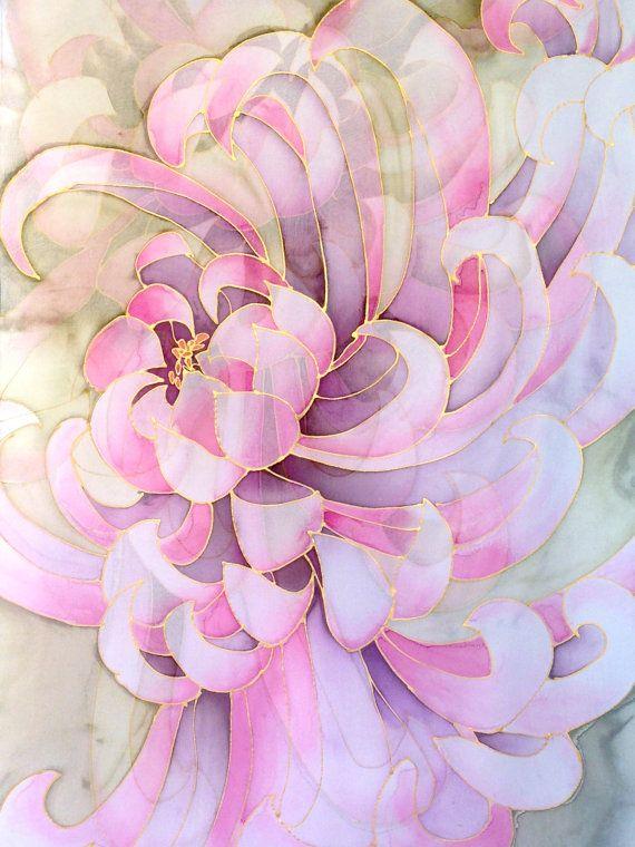 124 best Silk Scarves Takuyo images on Pinterest | Painted ...