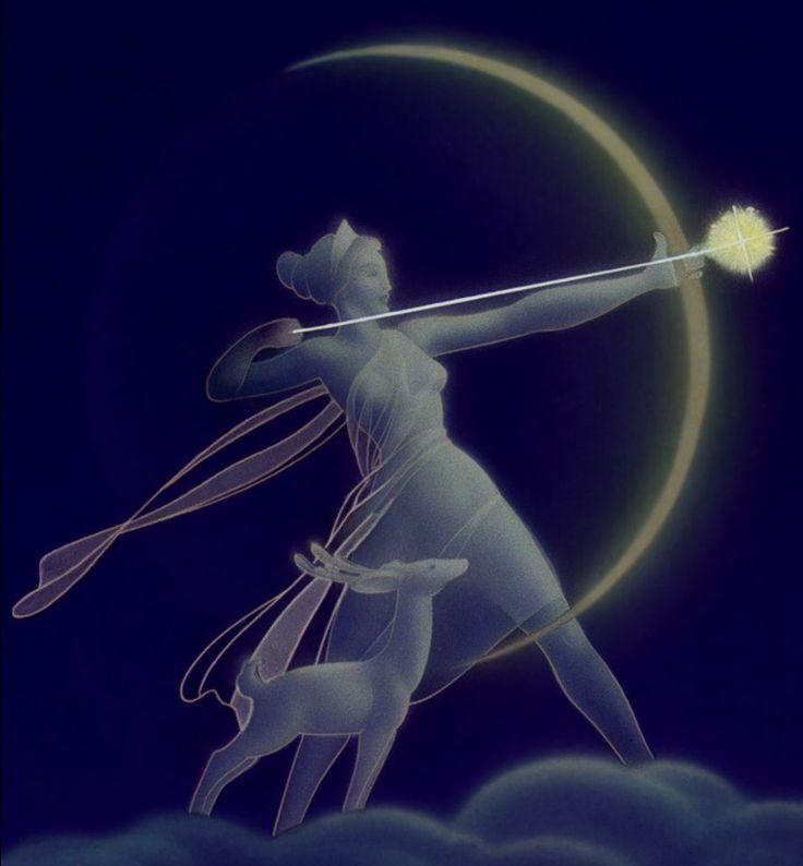 artemide-dea della Luna-della caccia- degli animali selvatici-delle danze-della luce-della fertilità e del parto.