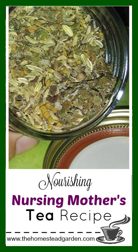 This Nourishing Nursing Mother's Tea recipe is a wonderful way to nourish new mothers and also help aid in a healthy milk production for their newborns.