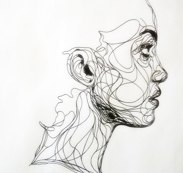 Contour Line Drawing Elephant : Best art images on pinterest