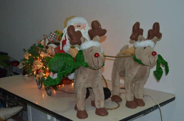 Carreta navideña de muñecos navideños blanca nieve