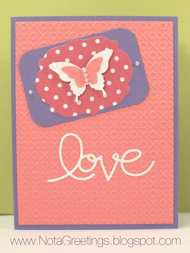 valentine card butterfly