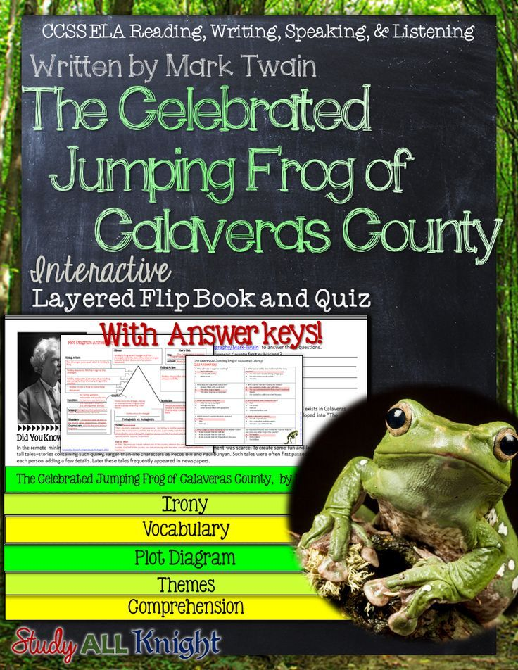 "a literary analysis of ""the celebrated An introduction to the literary analysis of the celebrated jumping frog of calaveras county by mark twain."