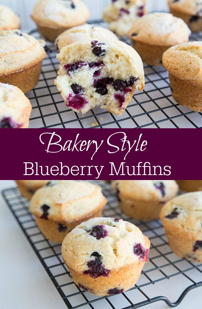 The Best Bakery Style Blueberry Muffins Ever from @kitchenmagpie