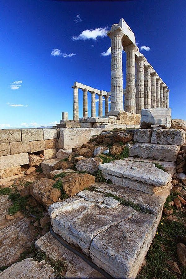 The Temple of Poseidon, Cape Sounio Greece https://www.facebook.com/AncientGreece.Sparta.Troy/photos/a.236725363121629.54556.235636036563895/523458817781614/?type=1