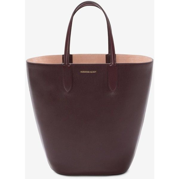 Alexander McQueen Small Basket Bag ($1,245) ❤ liked on Polyvore featuring bags, handbags, oxblood, oxblood handbag, oxblood bag, oxblood purse, alexander mcqueen and alexander mcqueen handbags