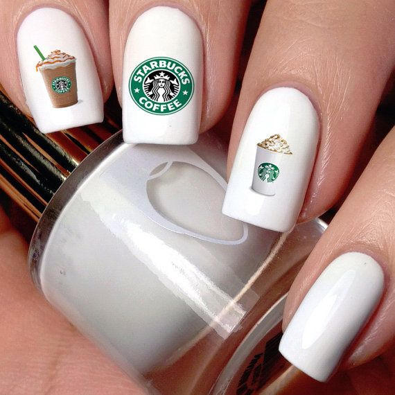 Hey, I found this really awesome Etsy listing at https://www.etsy.com/listing/245444229/starbucks-waterslide-nail-decals