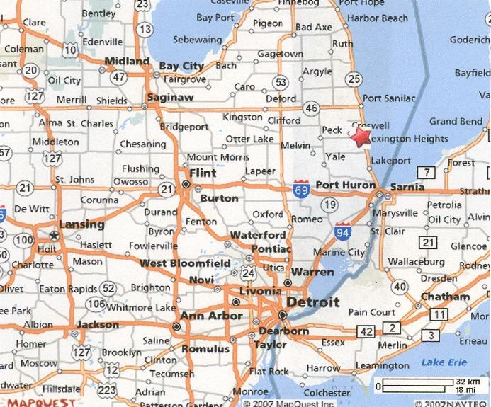 Where is Lexington? Right where the Star is..That's where you will find me all summer