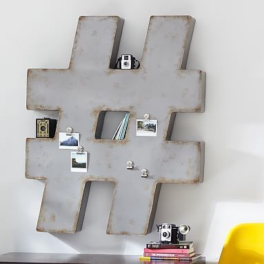 # Industrial Wall Decor #pbteen