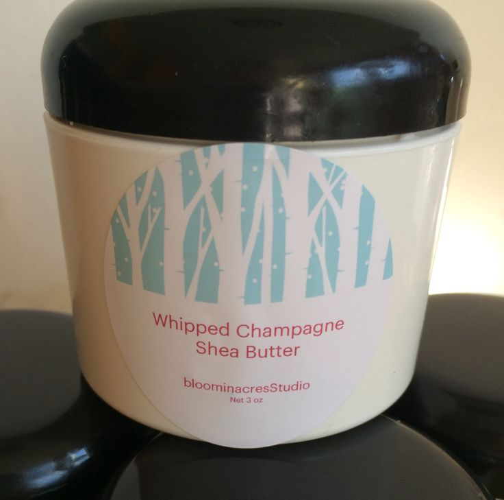 Whipped Champagne Shea Butter, Holiday Body Butter, Gift for Her, Spa Items, Winter Skincare by bloominacresStudio on Etsy