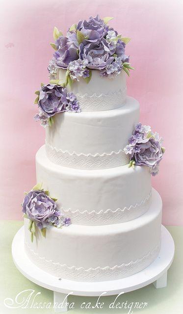 222 Best Cake Art PurpleLavender Wedding Cakes Images