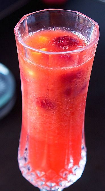 Raspberry Mango Bellini