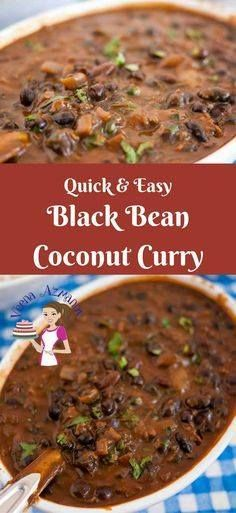This black beans coc This black beans coconut curry is a healthy addition to any diet. You can use them dried or canned. Using canned black beans makes it quick and easy. Black beans are high in protein high in fiber and an excellent antioxidant for the body a great addition to the family diet. via Veena Azmanov Recipe : http://ift.tt/1hGiZgA And @ItsNutella  http://ift.tt/2v8iUYW  This black beans coc This black beans coconut curry is a healthy...