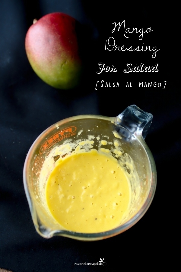 Ravanello Rosa Pallido: Salsa al mango per insalata - dressing for salad