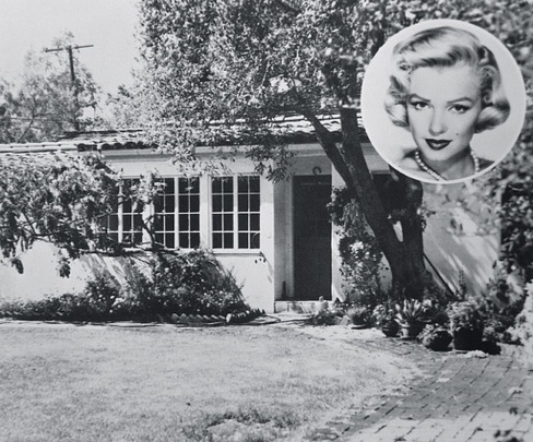 Marilyn Monroe home in Brentwood,Los Angeles