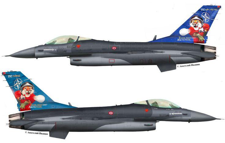 "F-16С Block50 #0680 (s/n 93-0680, c/n HC-24) from 192 Filo ""Tiger (Kaplan)"" , Turkish Air Force - TuAF. Tiger Meet 2007. AB Balikesir. September 2007."