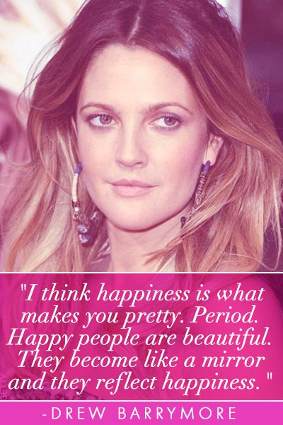 Drew Barrymore beauty quote
