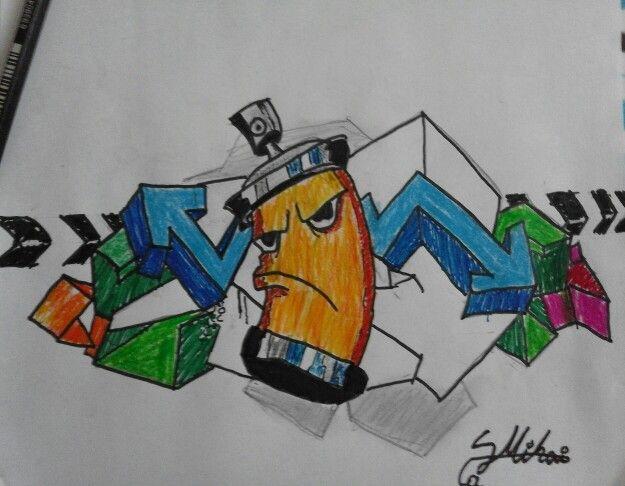 Graffiti spray tube
