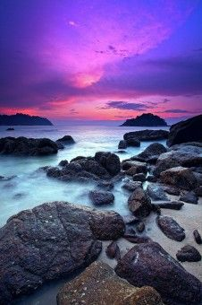 Muslianshah Bin Masrie: Sunset at Pangkor Island