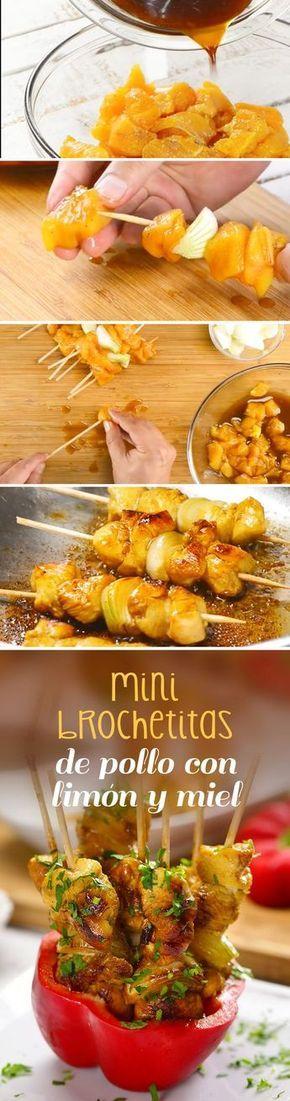 En este regreso a clases, prepara una comida divertida. Esta receta de mini brochetas de pollo le encantará a chicos y grandes por su combinación de miel y limón.