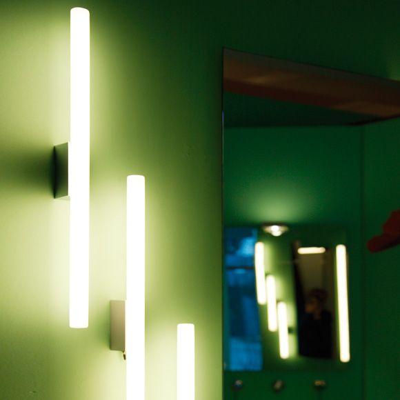 "Top Light Lichtstange ""die schnelle"" Wandleuchte L: 50 B: 4 cm, alustruktur Baderomsbelysning"
