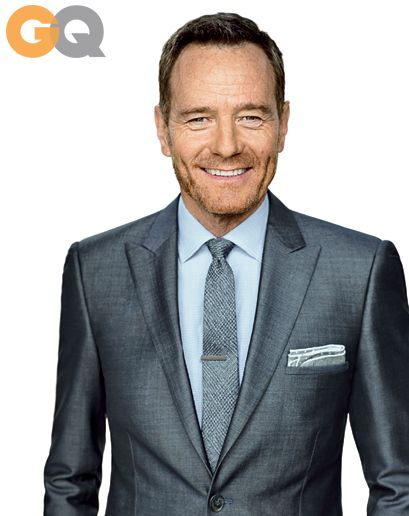 Bryan Cranston GQ Magazine August 2013. Calvin Klein Collection Suit, Shirt by Varvatos, Tie by Gucci.