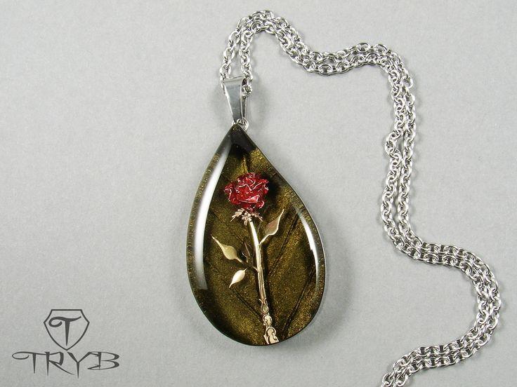 Rose - handmade pendant. http://polandhandmade.pl #polandhandmade #rose #pendant #tryb #jewelry