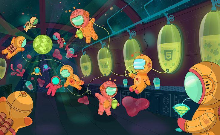 Ecselis Space Bar in Hallucinogenia http://ioanahalunga.ro