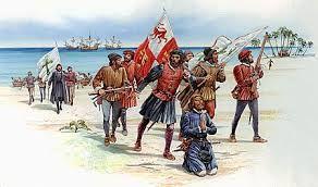 15 – En el tercer viaje (1498-1500) descubrió Trinidad y tocó tierra firme en la desembocadura del Orinoco; pero la sublevación de los colonos de La Española forzó su destitución como gobernador y su envío como prisionero a España.