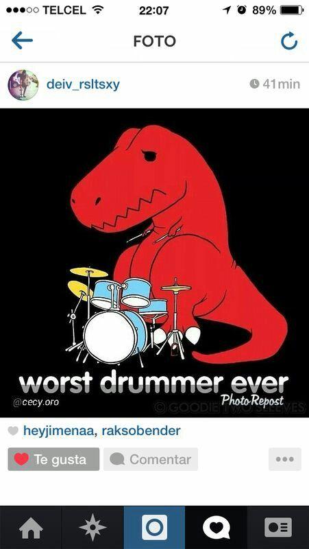 Worst drummer ever t-rex humor