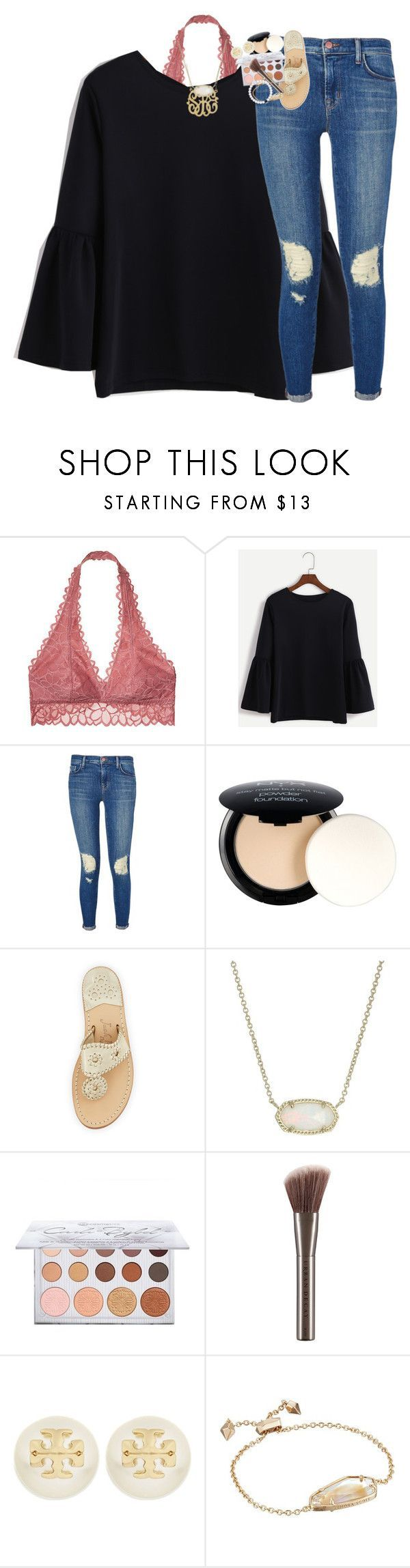 """A little bit dangerous, but, baby, that's how I want it"" by classynsouthern ❤ liked on Polyvore featuring Victoria's Secret, J Brand, NYX, Jack Rogers, Kendra Scott, Urban Decay and Tory Burch"