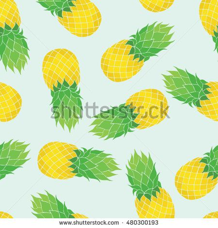 Pineapple seamless pattern for your business