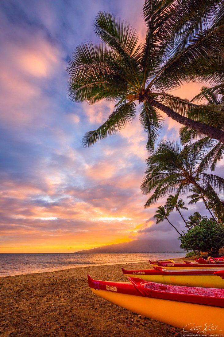 Outrigger a beautiful sunset ends the
