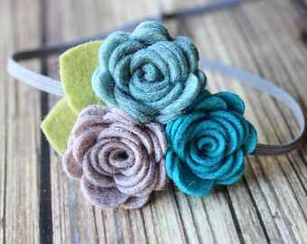 Felt headband set with glitter - newborn/baby/toddler headband - twin headbands…