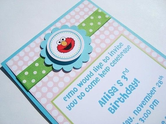NEW Elmo Birthday Invitations  Set of 12 by PartiesInBloom on Etsy, $24.00