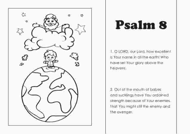 Psalm 8 Coloring Page Coloring Pages Free Adult Coloring Pages