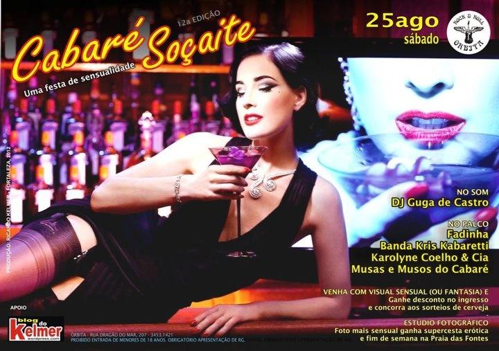 Festa Cabaré Soçaite ingressos a venda somente no site www.mariadosprazeres.com.br