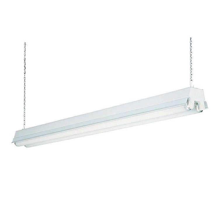 Lithonia Lighting 1233 RE 2-Light T8 Fluorescent Residential Shop Light, White