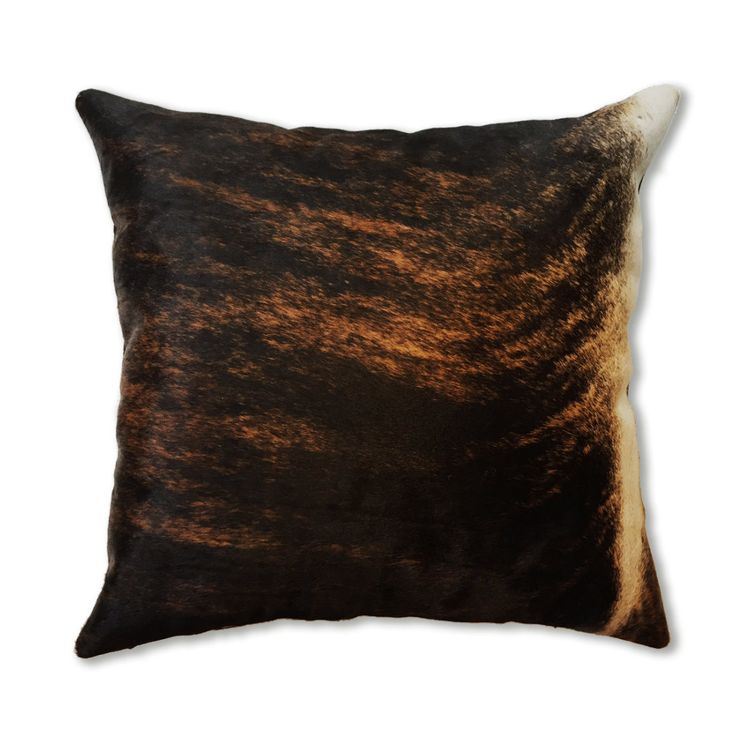Authentic black cowhide pillow decorative pillow, accent pillow, throw pillow - 45x45cm 18x18 inches genuine leather cushion for home decor by CamuDecor on Etsy