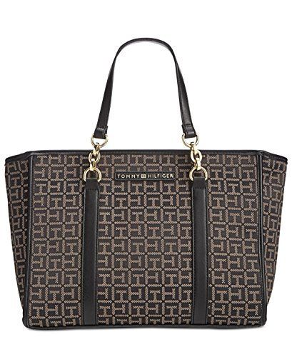 New Trending Shopper Bags: Tommy Hilfiger Womens Emilia Convertible Shopper Black/Dark Pepper Handbag. Tommy Hilfiger Women's Emilia Convertible Shopper Black/Dark Pepper Handbag  Special Offer: $49.99  399 Reviews Slightly flared gussets help define the clean and contemporary look of a Tommy Hilfiger shopper made to be carried in hand or slipped in the crook of your...