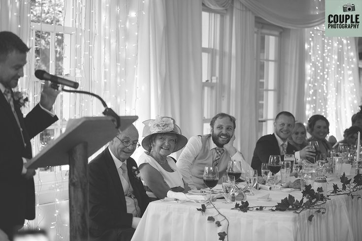 The best man delivers his speech. Weddings at Rathsallagh House Hotel by Couple Photography.