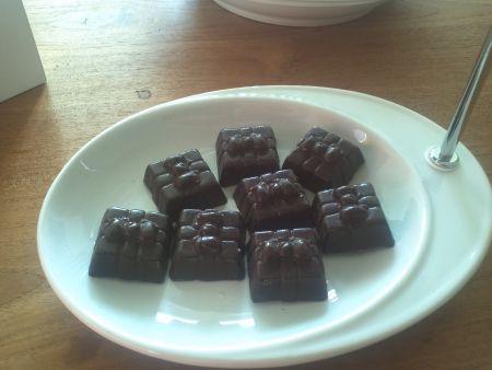Bonbons met witte chocolade en pepermunt