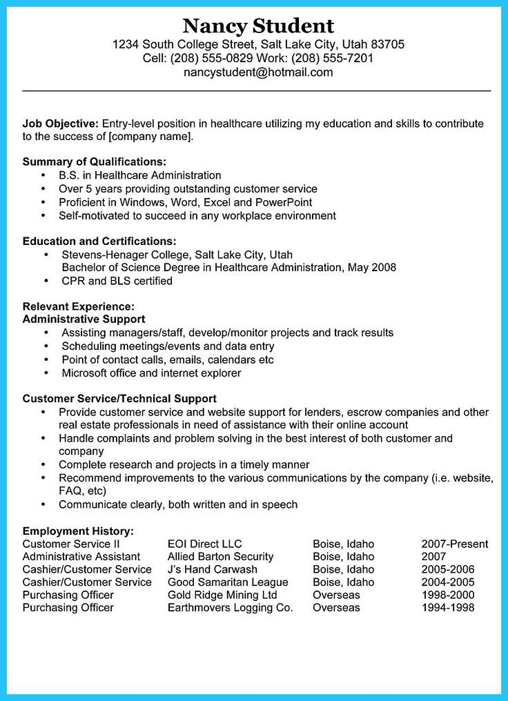 Resume Outline Example Examples Of Resume Templates Doc