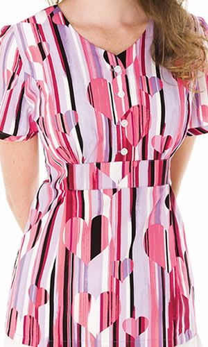 Loving this heart pattern from Landau Scrubs!