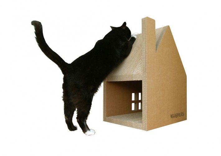 体がすっぽり収まって、爪研ぎもできる丈夫な段ボール製〈ネコ小屋〉が登場:オランダ - IRORIO(イロリオ)