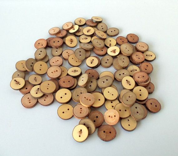 Wood Buttons  Branch Buttons  20 Buttons  5 by PebblesAndWoods