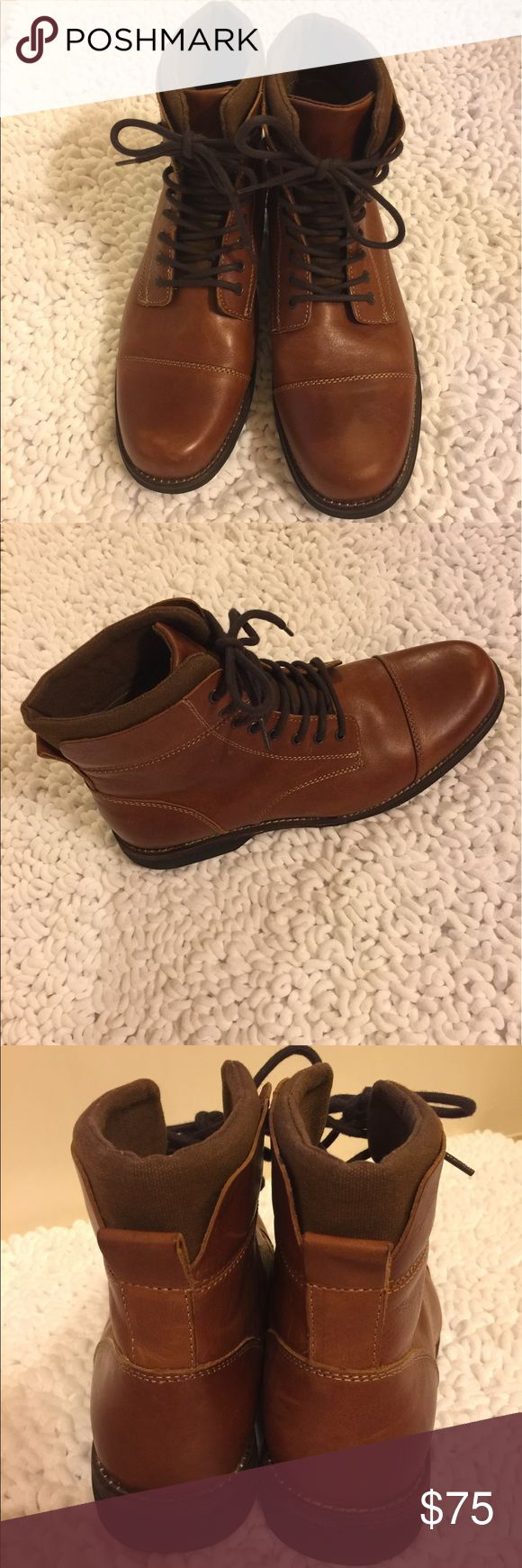 ***MENS*** Brown Leather Aldo Boots Excellent condition!  Purchased at Aldo.  Did not fit my hubby😥!!!  Make an offer!!!! Aldo Shoes Chukka Boots